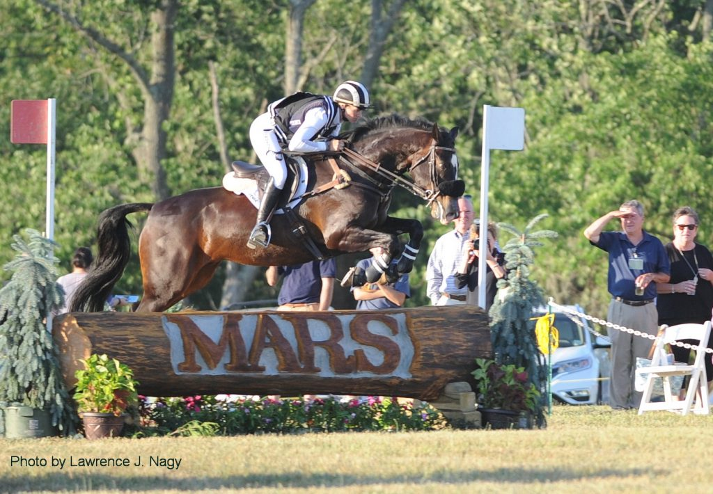 Sinead Halpin and Topgun, second in the Derby Cross.