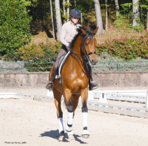 Emily Donaldson and Audi honed their skills during the clinic. (Photo by Nancy Jaffer)