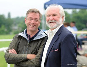 Jim Wolf and Guy Torsilieri, members of the Mars Essex Horse Trials board.