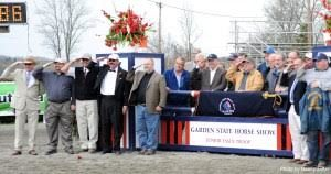 Men who grew up in the Junior Essex Troop have an annual reunion as they put on the Garden State Horse Show. (Photo© 2018 by Nancy Jaffer)
