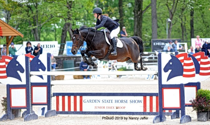 Carley McInerney and Cortina 200. (Photo©2019 by Nancy Jaffer)
